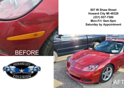Corvette before and after